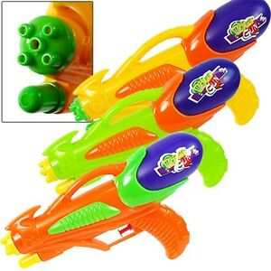 Dual Nozzle 10 inch Water Gun Super Blaster Squirt Soaker Bulk Lot (Pack of 10X)