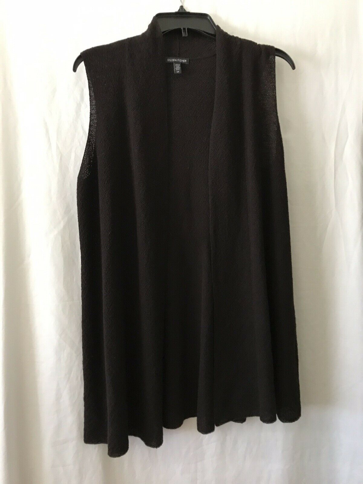 EILEEN FISHER Brown Knit Wool Vest Sz S