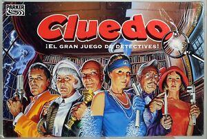 Spanish-Cluedo-Clue-Game-Parker-Bros-Detective-Board-Family-Spain-1996-RARE-New