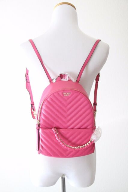 5ac6c730bee4 Victoria s Secret Pebbled V-quilt Small City Backpack 3834 65 Ll2 OS Pink  for sale online