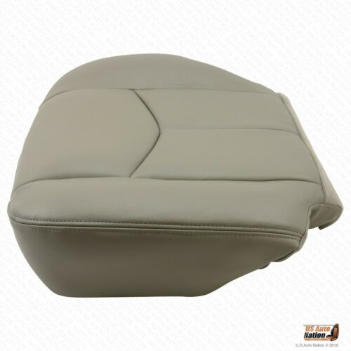 2003-2006 Chevy Avalanche Driver Bottom Leather Seat Cover and Seat Cushion Gray