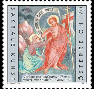 austria 2017 Parish Church St Andrä Passion 16 Christ and Doubting Thomas 1v - France - Region: Italy Quality: Mint Never Hinged/MNH Country/Region of Manufacture: Austria Denomination: Roman Catholic parish church Type: Postage Year of Issue: 2011-Present Topic: Cultures, Ethnicities - France