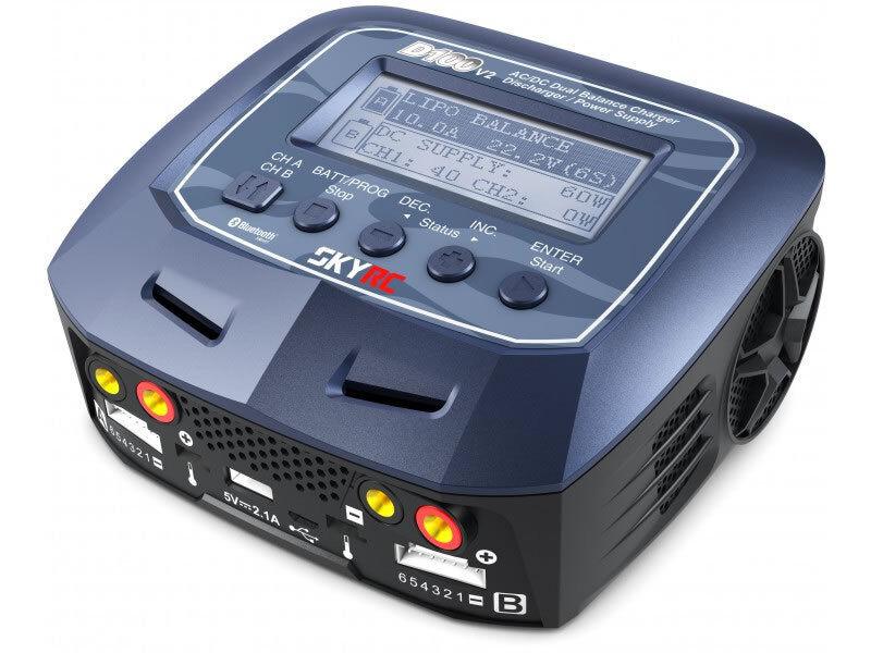 Skyrc D100 V2 AC Dc Dual Balance Charger   Scaricatore PSU