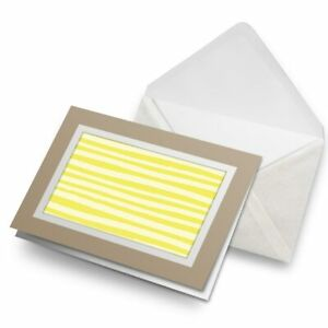 Greetings-Card-Biege-Yellow-Stripes-Pattern-Modern-Art-24579