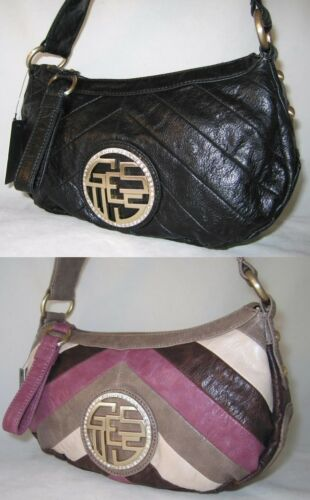Oyster Purse Sac Handbag Small Logo Zip Top Guess Banana Rhinestones New Bag dqfSn8