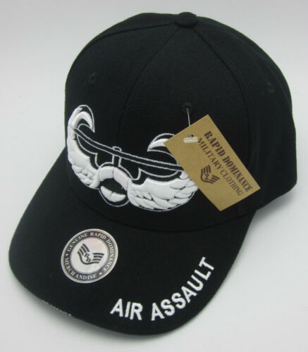 AIR ASSAULT Cap Hat US Army Military Caps Hats Black USA NWT United States U.S