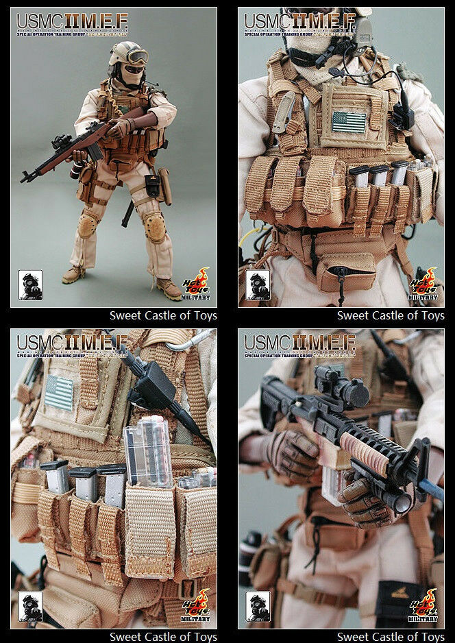 1 6 Hot Toys USMC Ⅱ MEF Tan Special Operation Training Group Flight Suit Ver.
