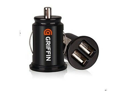 Bullet Car Charger Adaptor Dual Mini USB 2-Port for Apple iPhone 4 S 5 Samsung