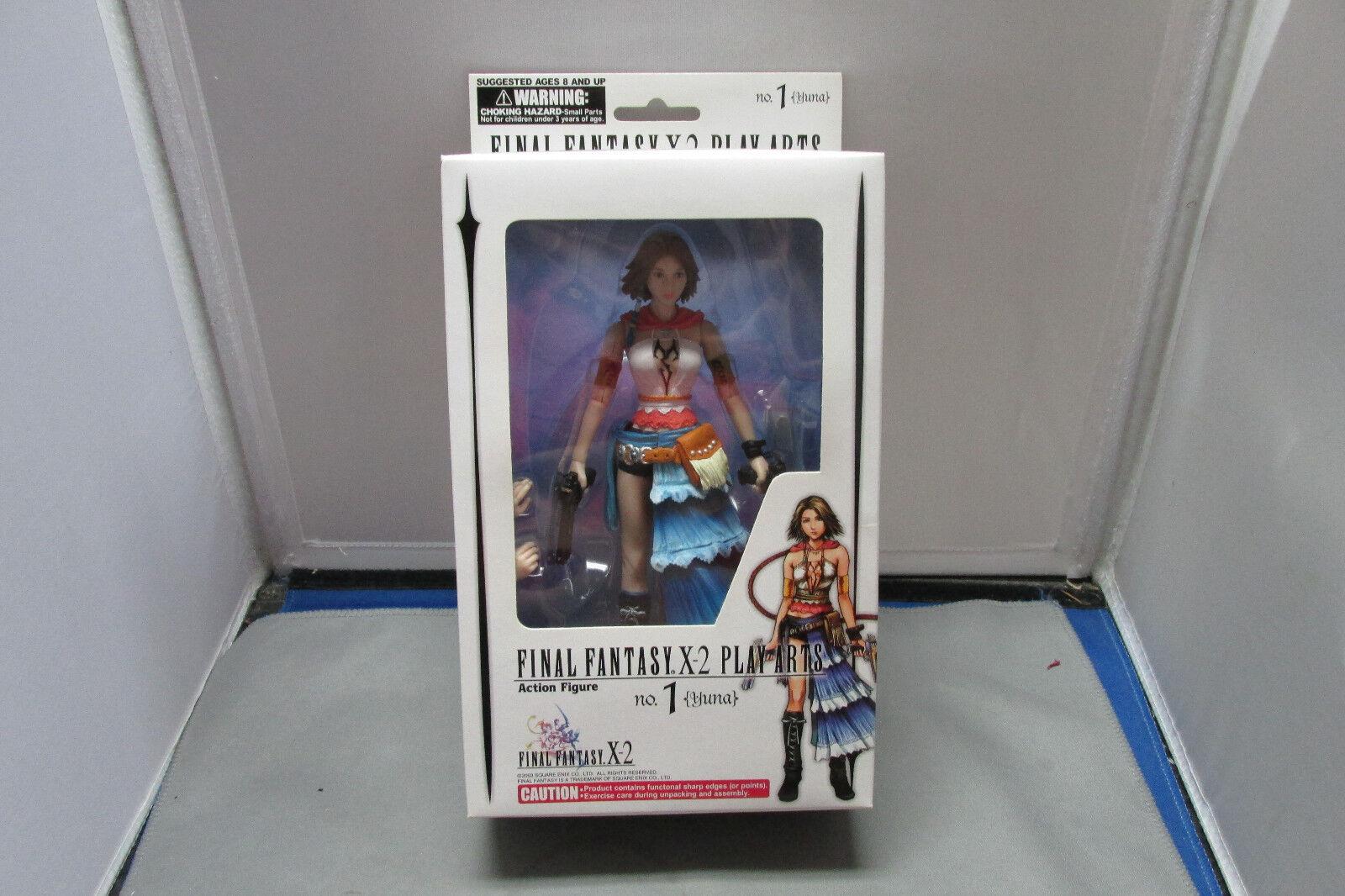 Final Fantasy X-2 Play Arts Action Figure No. 1 Yuna  MIB  Sealed   No Reserve