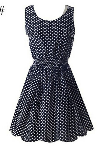 Blanc Polka Dot Robe Taille 6 8 10 12 14 Années 50 Fifties Style Robes Noir