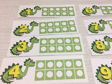 Dinosaur Ten-Frames - Laminated Activity Set - Teaching Supplies