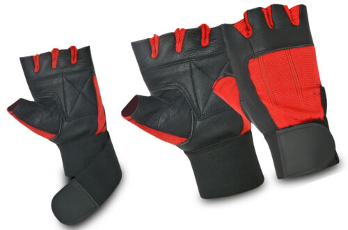 Leather Bus Driving Gloves Finger Less Training Weight Lifting Wheelchair New