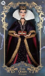 """DISNEY SNOW WHITE 80th Anniversary EVIL QUEEN LIMITED EDITION 17"""" DOLL NEW Boxed"""