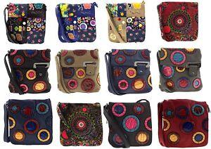 Bolso-Bandolera-Patchwork-Bolsa-Bolso-de-Hombro-Bolso-Mujer-Mensajero-Multicolor