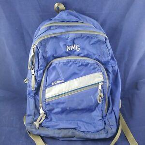 e0bf47903bde LL Bean Super Deluxe College School Backpack Dark Navy Book Bag Blue ...