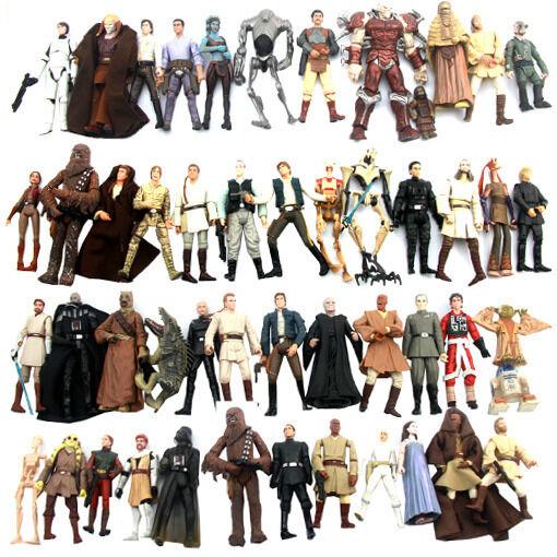 Randomly 10pcs STAR WARS 3.75'' Clone Trooper droid yoda Action Figure Toys S251