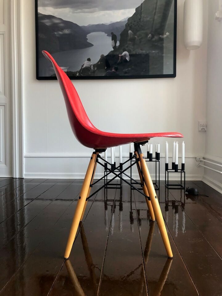 Eames, Glasfiber DSW model, stol – dba.dk – Køb og Salg af