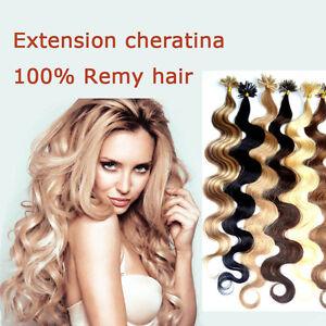 10-REMY-HAIR-EXTENSION-MOSSI-capelli-VERI-100-CHERATINA-CIOCCHE-0-5-gr-53-cm
