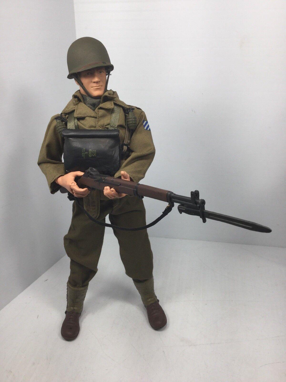 1 6 HASBRO 3RD Etats-Unis INF DIV FRANCE M1 Garand Full Gear Dragon DID BBI WW2 21ST