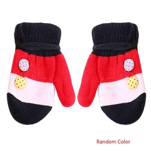 1-4 Years Soft Knitting Baby Toddler Boy Girl Mittens Kids Warm Gloves Winter