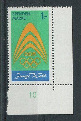 Freundschaftlich Ddr Spendenmarke Mi.nr. I Er U.r. Postfrisch ** Mnh Olympia 1971 D7246