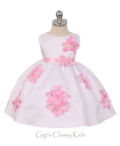 Dresses New Baby Girls Shantung Purple Dress Wedding Birthday Formal Pageant Party 219F