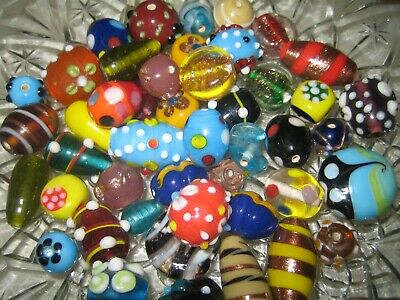 Glasperlen Mix//Perlen Mix  150g bunte Mischung Lampwork Perlen//Crystal Perlen