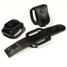 Set of 3 Protec Deluxe leather Duty Belt Keepers