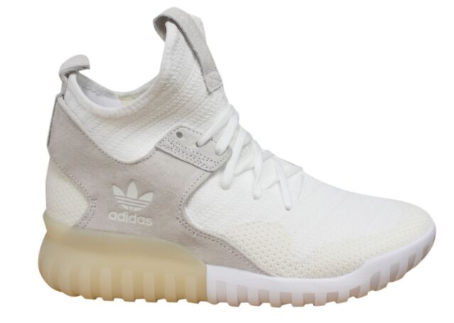 Adidas Originals Tubular X PK Lace Up White Mens Leather Trainers S80130 B2D