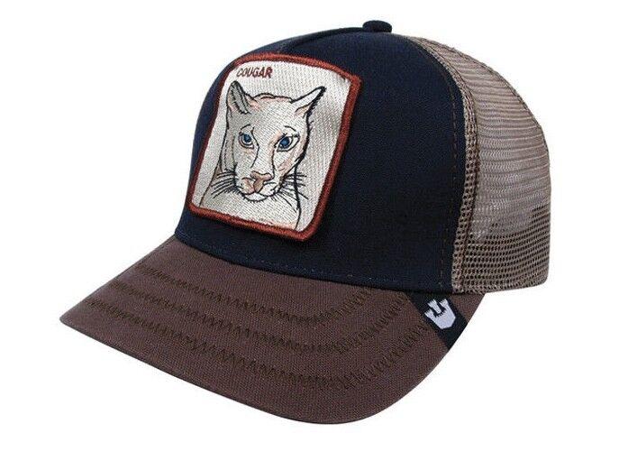 5f6332717fc Goorin Bros Animal Farm Snapback Trucker Hat Cap Cougar Navy 101-4283