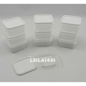 Lots new small mini clear plastic food craft bead storage for Craft storage boxes with lids