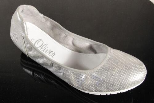 s.Oliver Ballerina Slipper Sneakers Pumps silber NEU!!