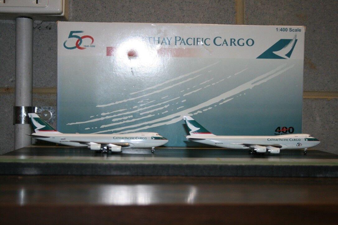 BigBird Big Bird 1:400 Cathay Pacific Boeing 747-400 B-HUK & 747-200F VR-HVZ