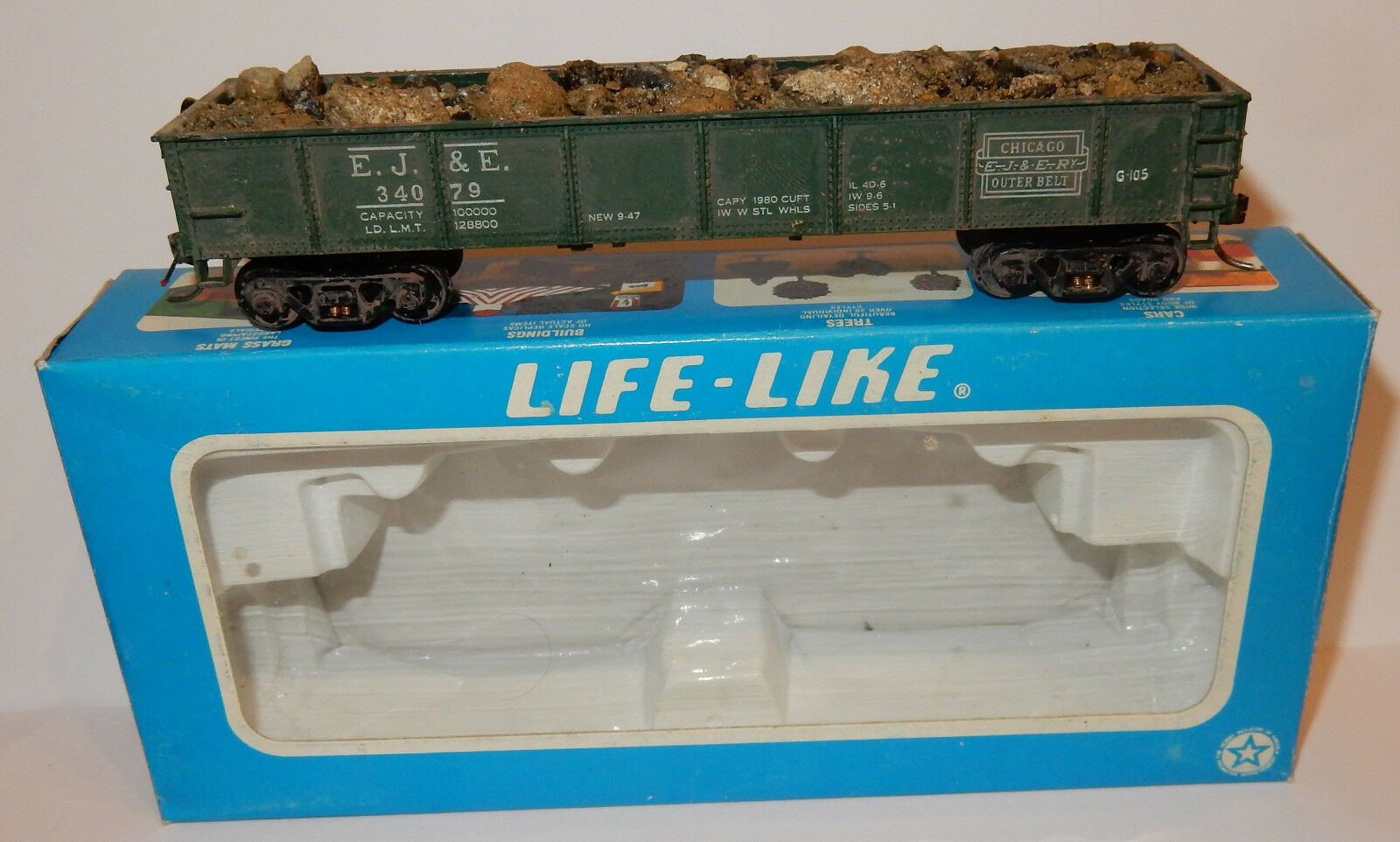 LIFE LIKE HO 1 87 VINTAGE 40 GONDOLA WAGON RAILROAD REF 5810 IN BOX