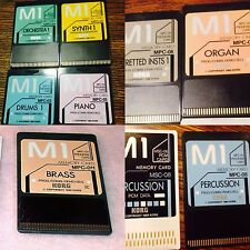 """12 Korg M1 Cards In1 Disk""""COLECTION""""For Korg T1,T2,T3,EX,Organ,piano,Brass,read!"""