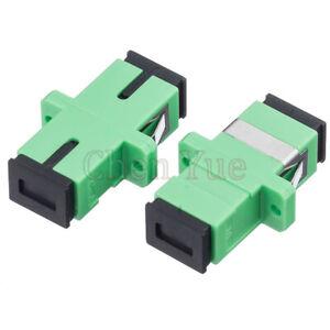 50pcs-SC-APC-Adapter-Connector-Simplex-Single-mode-Plastic-SM-Fiber-Connector