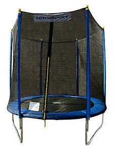 Ultrasport Garten Kinder Trampolin Kindertrampolin Sicherheitsnetz Blau 244 cm