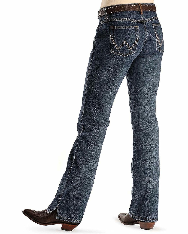 "Femme Wrangler Cowgirl Coupe Mi-rise ""Cash"" Ultimate équitation Jean"