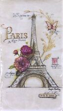 """Cypress Home Paris Eiffel Tower Paper Dinner Napkins 4"""" x 8"""" ~ 16 Count 2 Ply"""