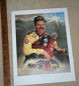 NASCAR-JEANNE-BARNES-ERNIE-IRVIN-039-BEHING-EVERY-CLOUD-039-SIGNED-COLOR-POSTER