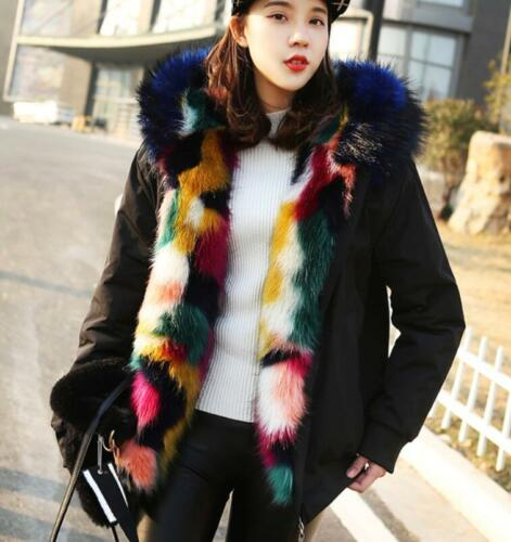 lunghe invernale spalline e Giacca corti donna maniche in Giacca spalline pelliccia colletto Sb con calde e con da con SHdwdxO