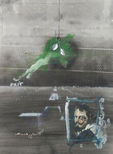 1972-034-Velasquez-034-Surrealist-Collage-Painting-Rafael-Mahdavi-French-Mexican