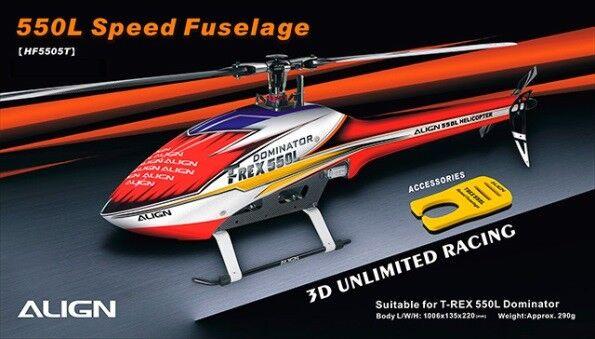 Align T-Rex 550L Speed Fuselage – Red