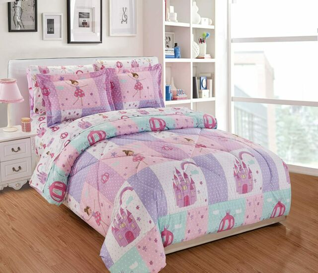 Fancy Linen 5pc Twin Comforter Set, Fairy Princess Twin Bedding