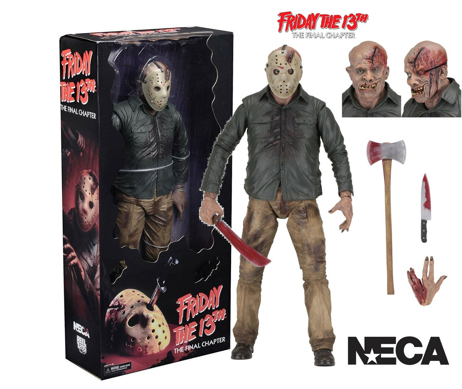 Neca Friday The 13th Partie 4 - Final Chapter - 1 4 Scale Jason Voorhees