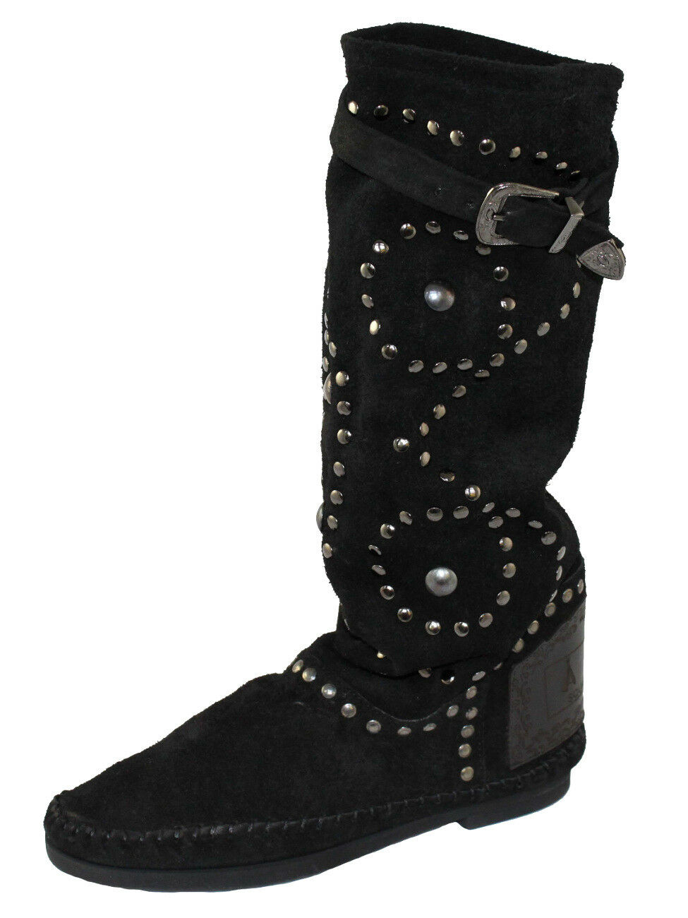 PIAMPIANI Chaussures Mocassins Bottes Boot Boot Boot Cuir Made in Italy taille 39 Indi 1 Noir db7324