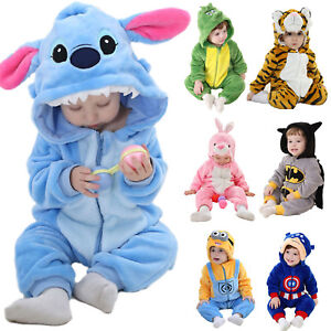 6190a7ce47a9 Baby Boy Romper Fleece One Piece Pajamas Outfit Costume Party Fancy ...