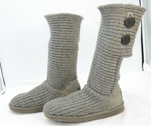 4d29381fc9d Details about UGG Australia Classic Lattice Cardy Crochet Sweater Knit Tall  Women's Boots Sz 6