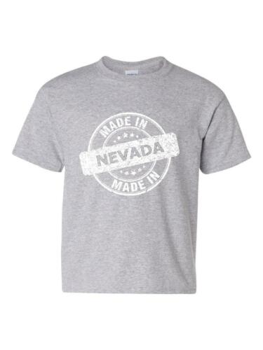 Made in NV Nevada Map Las Vegas Tickets Hotels Rebels Home Youth/&Kids T-Shirt