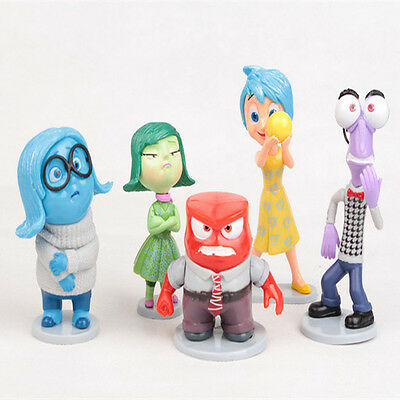 Inside Out Figures Cake Toppers Disney Pixar - Joy Fear Disgust Anger Sadness UK